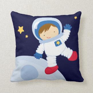 Cute Astronaut Boy Throw Pillow