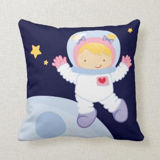 Cute Astronaut Girl Pillow
