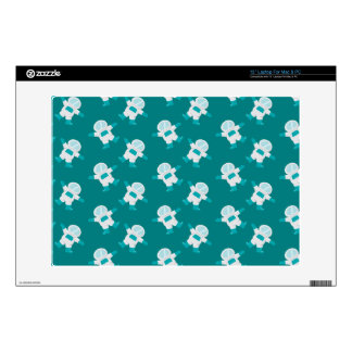 cute astronauts in outer space pattern decals for laptops