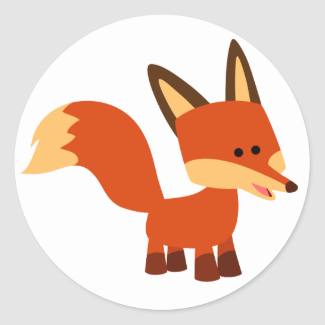 Cute Astute Cartoon Fox Sticker