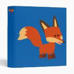 Cute Astute Cartoon Fox Vinyl Binder