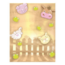 cute at the farm animals flyer