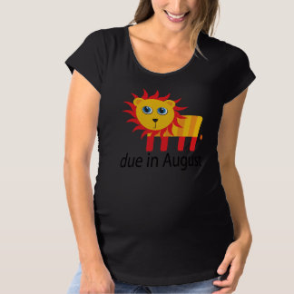 Cute August Lion Due Date Maternity T-shirt