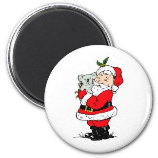 Cute Australian Christmas Santa with koala Magnet