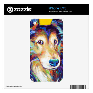 Cute Australian Shepherd Decal For The iPhone 4