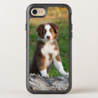 Cute Australian Shepherd Dog Puppy Phoneprotection OtterBox Symmetry iPhone 8/7 Case