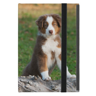 Cute Australian Shepherd Dog Puppy - Protection Case For iPad Mini