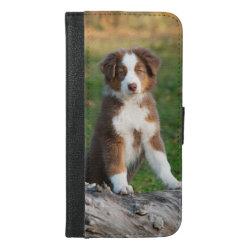 iPhone 6/6s Plus Wallet Case with Australian Shepherd Phone Cases design