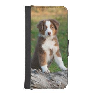 Cute Australian Shepherd puppy Wallet Phone Case For iPhone SE/5/5s