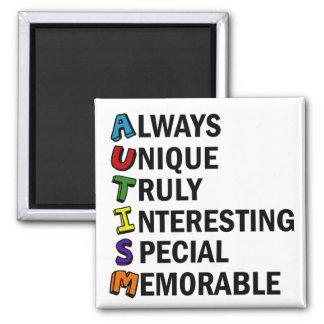 Cute Autism 2 Inch Square Magnet