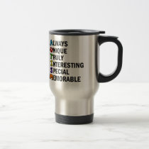 Cute Autism Awareness Acrostic Travel Mug