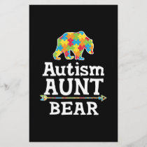 Cute Autism Awareness Aunt Bear