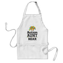 Cute Autism Awareness Aunt Bear Adult Apron