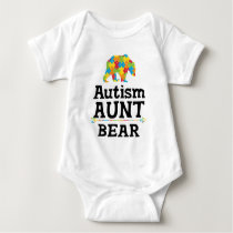 Cute Autism Awareness Aunt Bear Baby Bodysuit