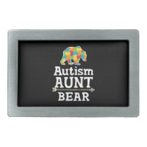 Cute Autism Awareness Aunt Bear Belt Buckle
