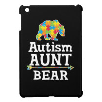 Cute Autism Awareness Aunt Bear Case For The iPad Mini