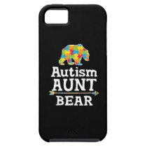 Cute Autism Awareness Aunt Bear iPhone SE/5/5s Case