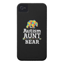 Cute Autism Awareness Aunt Bear Case-Mate iPhone 4 Case