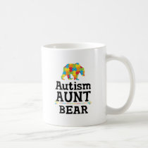 Cute Autism Awareness Aunt Bear Coffee Mug