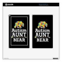 Cute Autism Awareness Aunt Bear Decal For Kindle Fire