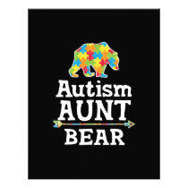 Cute Autism Awareness Aunt Bear Letterhead