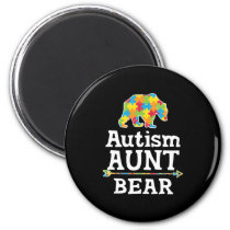 Cute Autism Awareness Aunt Bear Magnet