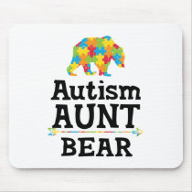 Cute Autism Awareness Aunt Bear Mouse Pad