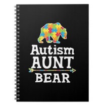 Cute Autism Awareness Aunt Bear Notebook