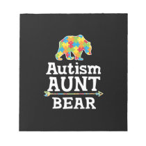 Cute Autism Awareness Aunt Bear Notepad
