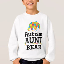 Cute Autism Awareness Aunt Bear Sweatshirt