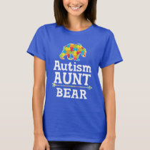 Cute Autism Awareness Aunt Bear T-Shirt