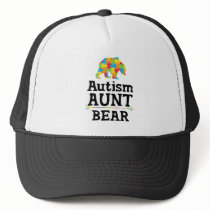 Cute Autism Awareness Aunt Bear Trucker Hat