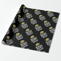 Cute Autism Awareness Aunt Bear Wrapping Paper