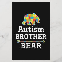 Cute Autism Awareness Brother Bear