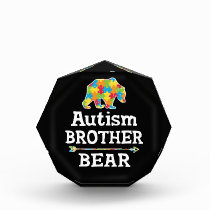 Cute Autism Awareness Brother Bear Acrylic Award
