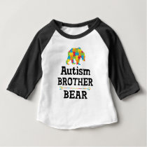 Cute Autism Awareness Brother Bear Baby T-Shirt