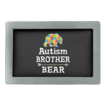 Cute Autism Awareness Brother Bear Belt Buckle