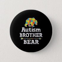 Cute Autism Awareness Brother Bear Button