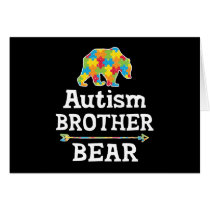 Cute Autism Awareness Brother Bear Card