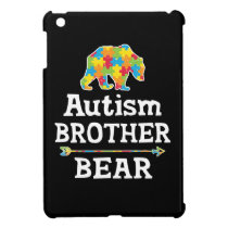 Cute Autism Awareness Brother Bear Case For The iPad Mini