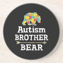 Cute Autism Awareness Brother Bear Coaster