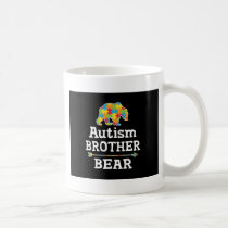 Cute Autism Awareness Brother Bear Coffee Mug