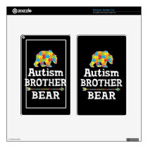 Cute Autism Awareness Brother Bear Decal For Kindle Fire