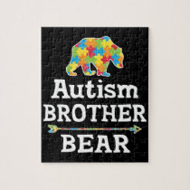 Cute Autism Awareness Brother Bear Jigsaw Puzzle