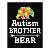 Cute Autism Awareness Brother Bear Letterhead