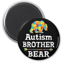 Cute Autism Awareness Brother Bear Magnet