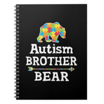 Cute Autism Awareness Brother Bear Notebook