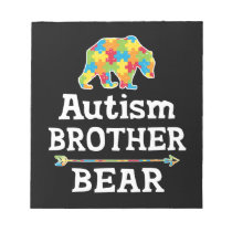 Cute Autism Awareness Brother Bear Notepad