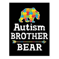 Cute Autism Awareness Brother Bear Postcard
