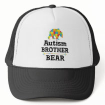 Cute Autism Awareness Brother Bear Trucker Hat